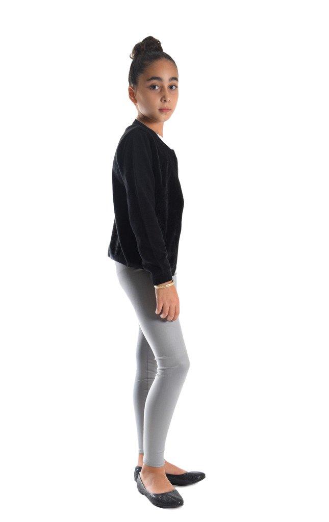 Girls Shiny Metallic Color Elastic Leggings CAPULK05-PP
