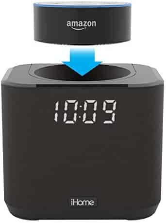 iHome Docking Bedside and Home Office Amazon Echo Dot Speaker System - iAV2B
