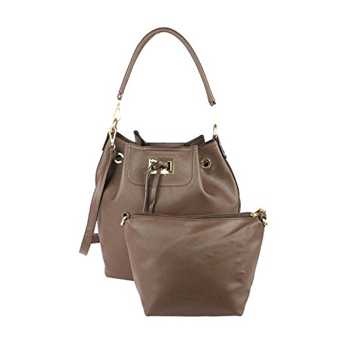 OBC Only-Beautiful-Couture - Bolso de asas para mujer beige pardo ca.: 40x29x18 cm (BxHxT) pardo