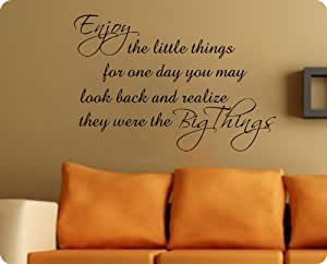 enjoy the little things wall decal decor words large nice sticker other products. Black Bedroom Furniture Sets. Home Design Ideas