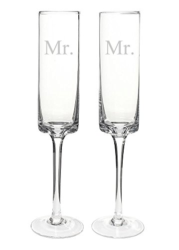 Cathy's Concepts Mr. & Mr. Contemporary Champagne Flutes ()