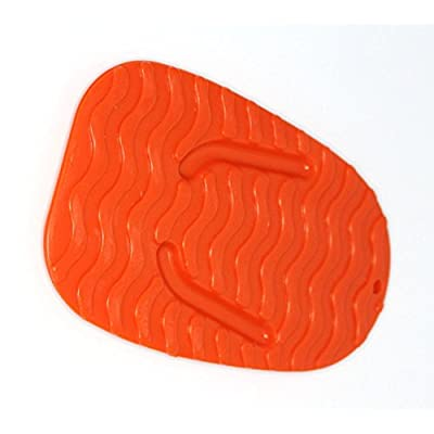 MOTORCYCLE KICKSTAND 2 Pack PLATE BIKER'S KICK STAND PAD ORANGE: Automotive