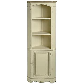 DISTRESSED CREAM CORNER STORAGE DISPLAY CABINET UNIT RUSTIC STYLE SHABBY CHIC ANTIQUE AMBLESIDE (H7971)  sc 1 st  Amazon UK & DISTRESSED CREAM CORNER STORAGE DISPLAY CABINET UNIT RUSTIC STYLE ...