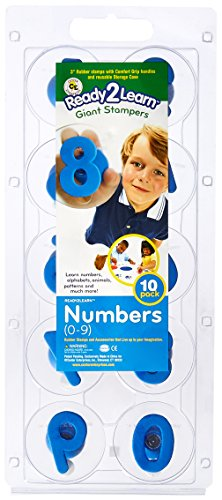 Center Enterprise CE6732 READY2LEARN Giant Number Stamps, 0-9
