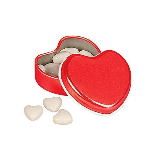 (Fun Express - Heart Shaped Tin W/mints for Valentine's Day - Edibles - Mints - Mint Tin & Matchbook - Valentine's Day - 24 Pieces)