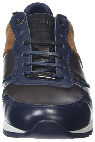 Ted Baker Herren Shindlm Sneaker Blau (Dark Blue/brown)