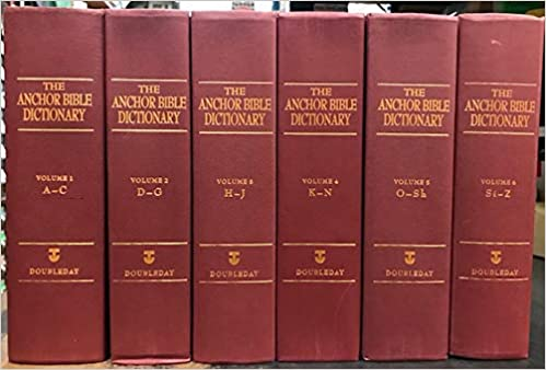 Anchor Bible Dictionary 6 Vol Set David N Editor Freedman