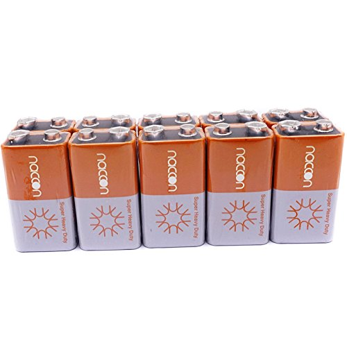 6f22 Super Heavy Duty Batteries - 9V Carbon-Zinc Super Heavy-Duty Battery Single Time Use 6F22 Block (10 Batteries)