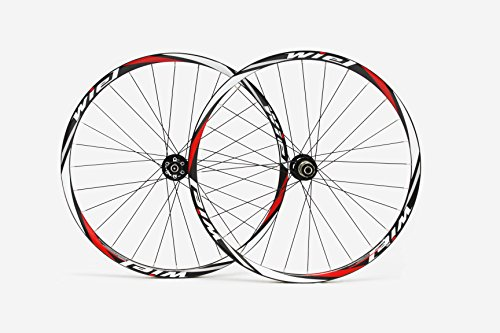 Wiel Carbon Fiber MTB Clincher Wheel 29er Bicycle Wheelset in Glossy Red White M28c