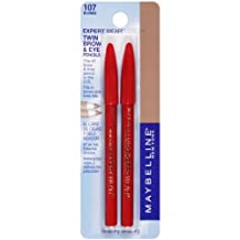 MAYBELLINE EXPERT WEAR TWIN BROW & EYE PENCILS #107 BLONDE