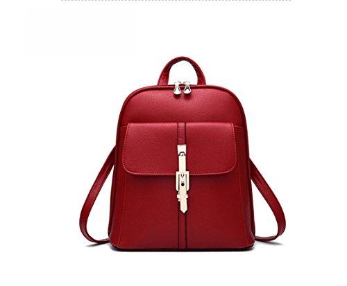 Bag Leather Wine Backpack Shoulder Travel Rucksack Fashion PU Ladies bag nwtYd6zx6