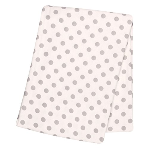 - Trend Lab Gray Dot Deluxe Flannel Swaddle Blanket