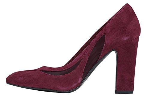 Zapatos de tacón de cuero velour de Patrizia Dini Burdeos