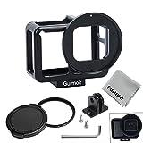 Gurmoir Aluminum Alloy Housing Hollow Frame Case for Gopro Hero 7 Black Hero 6 Hero5 Hero(2018) Action Camera - Good GPS Wi-Fi Signal Receiving - Metal Protective Frame with Back Door with 52mm UV Filter