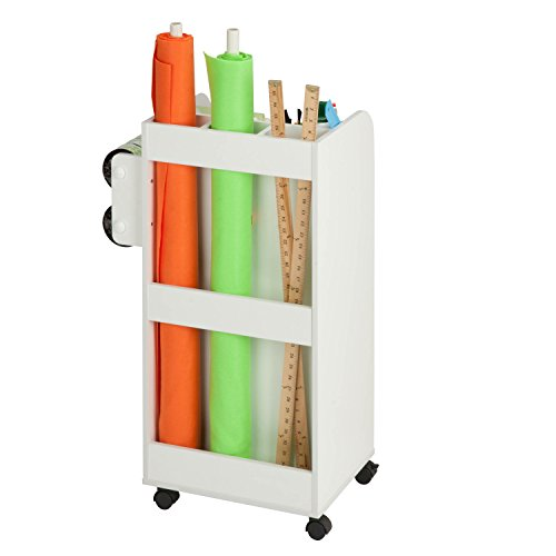 Honey can do crt 06346 rolling craft storage cart with for Rolling craft storage cart