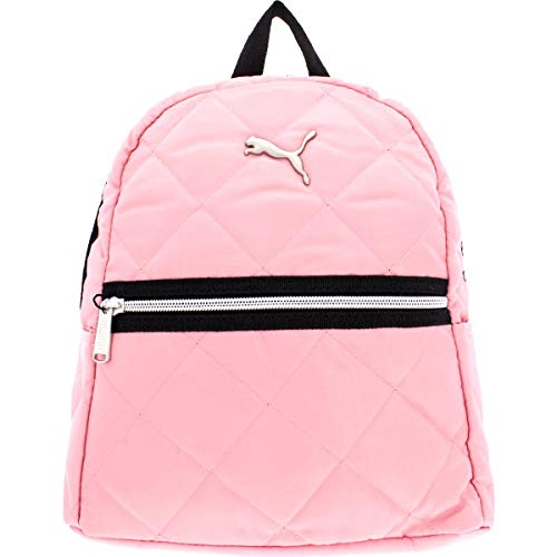 Puma Orbital Women's Striped Metallic Adjustable Mini Backpack Pink O/S (Puma Women Bag)