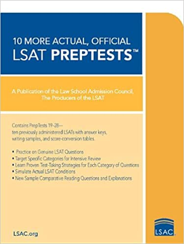 Official Lsat:10 More Actual Tests