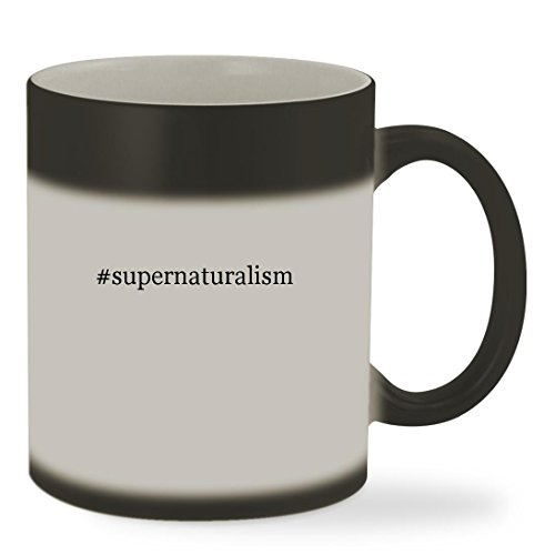 #supernaturalism - 11oz Hashtag Color Changing Sturdy Ceramic Coffee Cup Mug, Matte Black