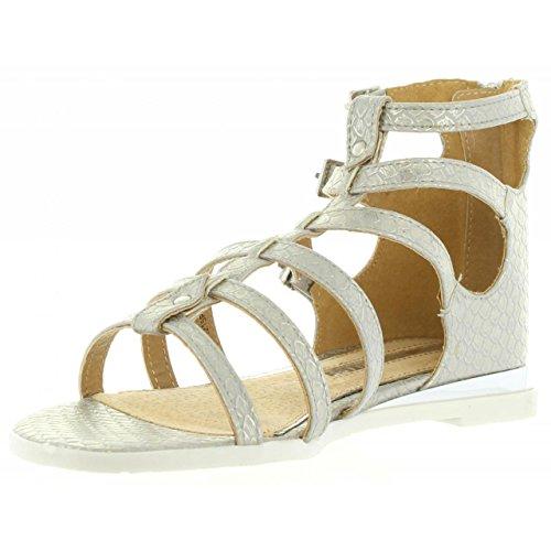Sandalias de Mujer MARIA MARE 66068 SKIN PLATINO
