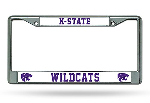 Rico Industries NCAA Kansas State Wildcats Standard Chrome License Plate Frame