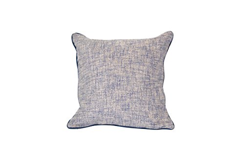 Custom Fringed Square Pillow - Urban Loft by Westex Movado Fringed Navy Feather Filled Decorative Throw Pillow Cushion, 20