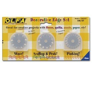 Olfa Decorative Edge Blade Set #DB/ST