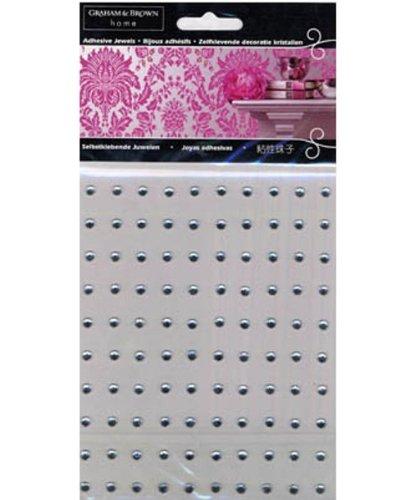 Graham Brown 42785 Wallpaper Wall Jewels Mini Crystal Clear Pack