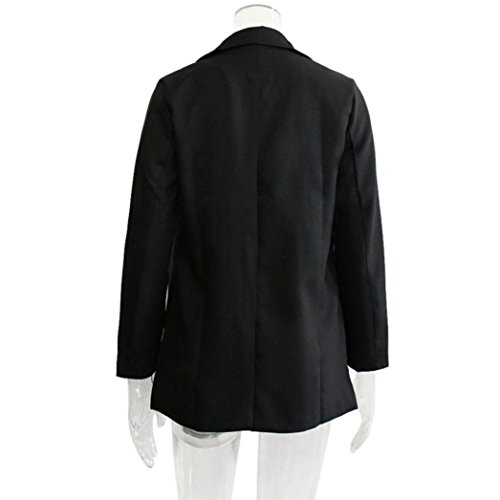 para Blazer de de Mujer Chaqueta KaloryWee Manga Casual Larga Negro de Mujer Blazer fqB44Z