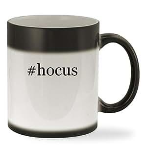 #hocus - 11oz Hashtag Color Changing Sturdy Ceramic Coffee Cup Mug, Black