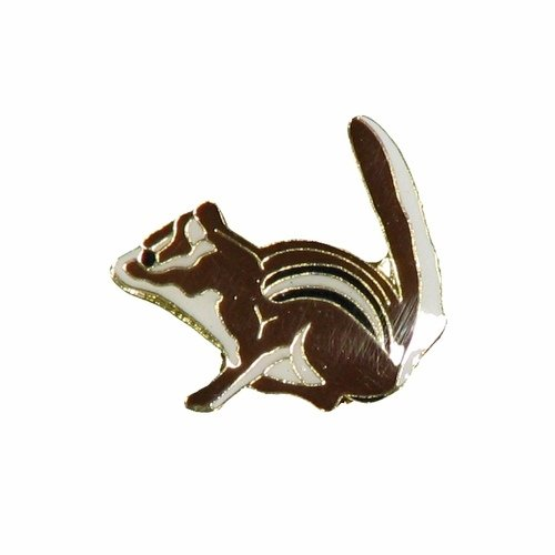 SUPERDAVES SUPERSTORE Chipmunk Wildlife Small Metal Lapel Pin Badge 1 X 3/4 Inches New