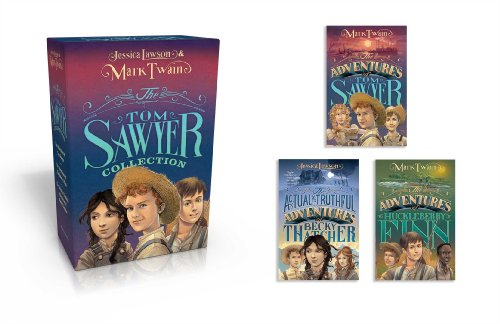 The Tom Sawyer Collection: The Adventures of Tom Sawyer; The Adventures of Huckleberry Finn; The Actual & Truthful Adventures of Becky Thatcher by Simon & Schuster Books for Young Readers (Image #1)