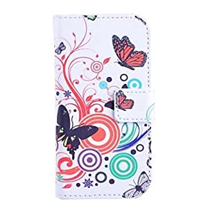 PEACH Butterfly Love Flower Pattern PU Leather Full Body Cover with Stand for Samsung Galaxy Trend Lite S7390/S7392