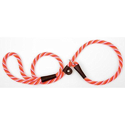 (Mendota Dog Products British Style Slip Leash, 1/2-Inch by 4-Feet, Diamond Ruby Rasp/Burgundy)