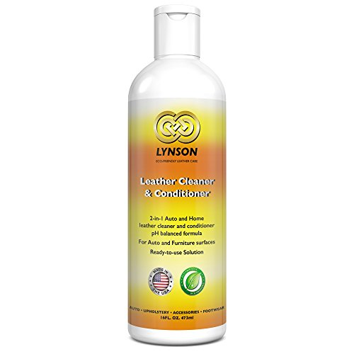 LYNSON Leather Cleaner and Conditioner - Eco-Friendly - Non-Toxic - pH balanced - Best for your Furniture, Car Seats, Sofas, Shoes, Bags, Purses - Made in the USA - 90 - Natural Nappa