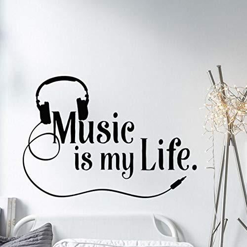 haotong11 Musical Tatuajes de Pared La música es mi Vida Tatuajes ...
