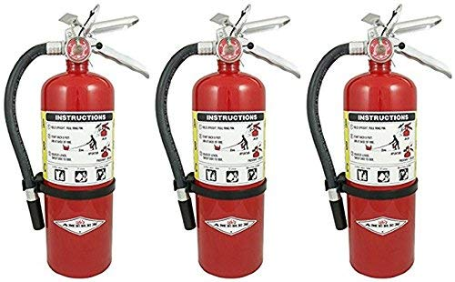 Amerex (3 Pack) B500, 5lb ABC Dry Chemical Class A B C Fire Extinguisher ()