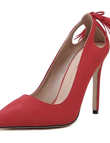 lfnlyx de zapatos de mujer Piel Sintética Tacón Stiletto Tacones/Punta Toe sandalias exterior/Casual Negro/Rojo/Blanco Negro - negro