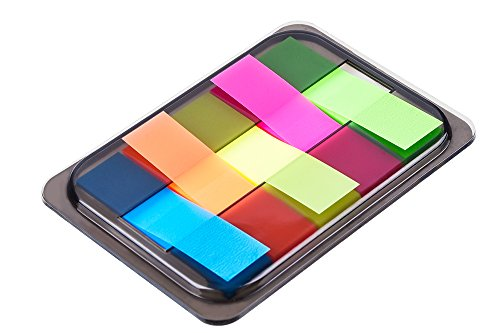 Antner 12 Sets Pop-up Index Tabs Flags Neon Page Markers Sticky Notes with Box,3 Size 800 Pieces Photo #3