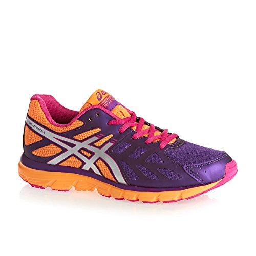 Asics Gel Zaraca 3 - Zapatillas de running para mujer, color Rasp/Silv/Purp, talla 36 Morado / Plata / Naranja