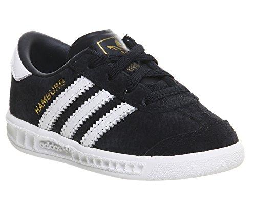 adidas Originals El Hamburg Kinder Sneaker Leder Schuhe S75371 Dunkel Blau Navy, Schuhgröße:EUR 24;Farbe:Dunkelblau