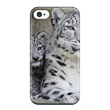 Premium [nyJWdSq26051kQaLV]snow Leopard Pictures Case For Iphone 4/4s- Eco-friendly Packaging