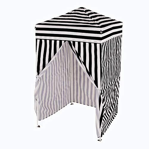Impact Canopy 4x4 Pop up Changing Dressing Room, Privacy Cabana, Portable Changing Room, Black / White -