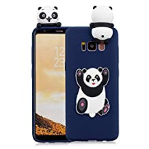 3D Cartoon Animal Case for Samsung Galaxy S8 Plus,Yobby Samsung Galaxy S8 Plus Cute Kawaii Pattern Case Slim Soft Flexible Rubber Silicone Shockproof Protective Back Cover-Dark Blue Panda