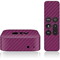iCarbons Purple Carbon Fiber Skin for Apple TV 4th Gen. / Remote Skin Included 4th Generation