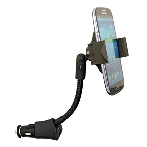 車マウント充電ソケットホルダーUSBポートDock Cradle Gooseneck Swivel for OnePlus 5t – Razer電話 – Samsung Galaxy Note 3 ( n9000 ) – Samsung Galaxy Note 4 B07BGF219N