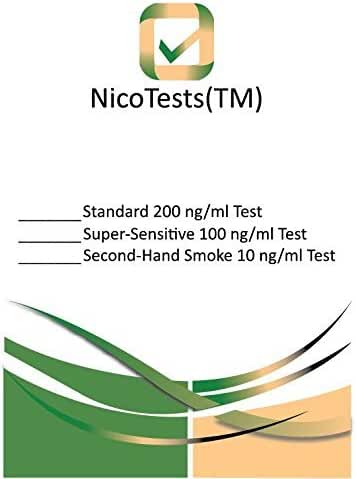 NicoTests Super-Sensitive Be Sure Nicotine is Out of Your Body, 1.4 Ounce
