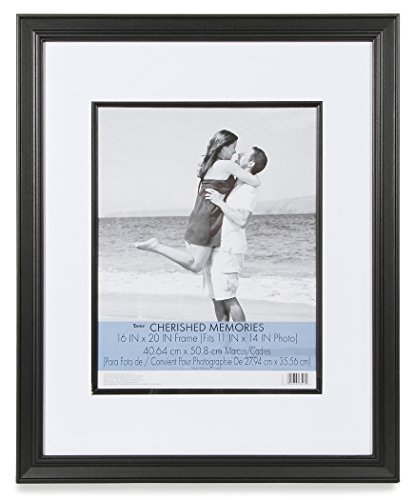 Darice Cherished Memories Double Mat Frame - Black - 16 x 20 (Double Punch Frame)