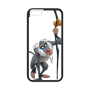 Personality customization TPU Case with Disney The Lion King Character Rafiki iPhone 6 Plus 5.5 Inch Cell Phone Case Black