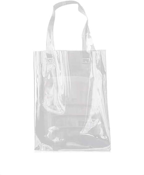 Plastik Einkaufstasche Umweltschutz PVC Transparent Tasche Mit Verschluss Neu