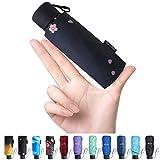 Fidus Upgraded Mini Travel Sun&Rain Windproof Umbrella - Lightweight Folding Compact Portable Parasol Outdoor Umbrellas for Men Women-Pink Peach ...